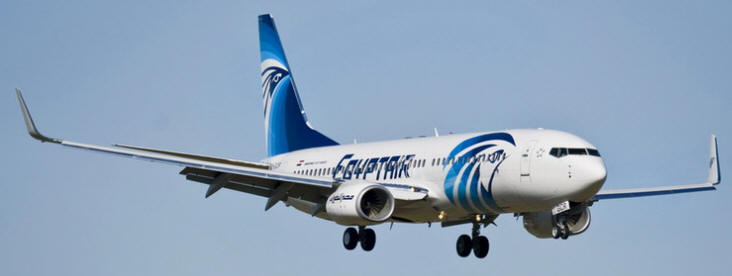 Egypt Air Boeing 737-800 airplane