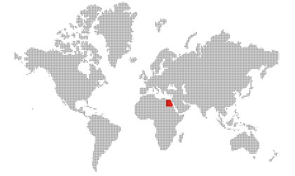 Egypt location on the world map